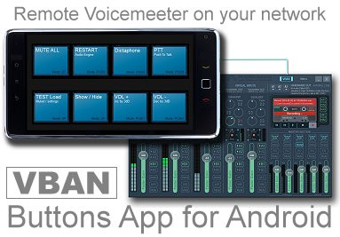 VBAN Buttons for Mobile Devices